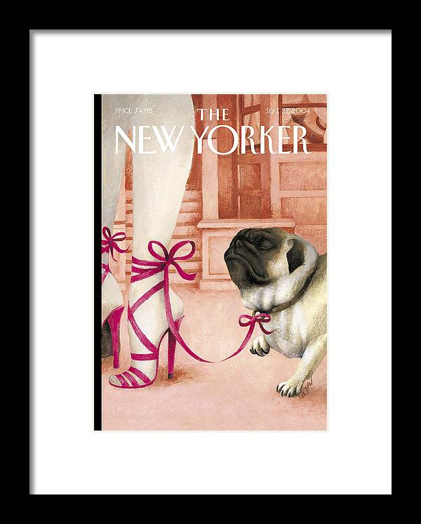 Brought Framed Print featuring the painting The New Yorker Cover - September 27th, 2004 by Ana Juan