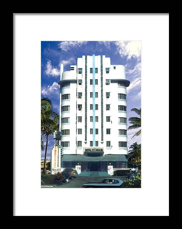 Miami Framed Print featuring the photograph The New Yorker by Steve Karol