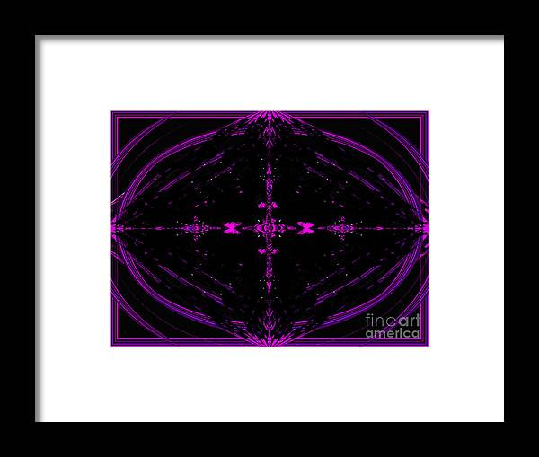 Pink Framed Print featuring the digital art The Night Has A Thousand Eyes by Debra Lynch
