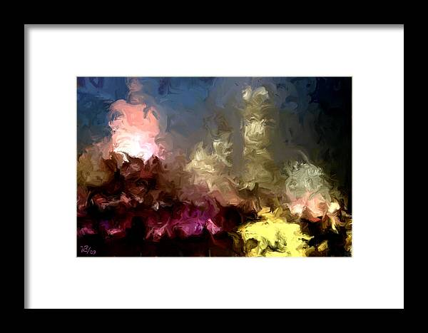Pink Framed Print featuring the painting The Night Moves by Wayne Bonney