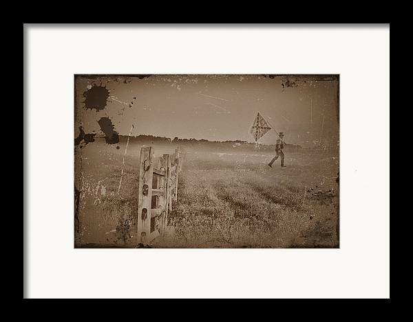 Union Framed Print featuring the photograph The Night They Drove Old Dixie Down by Bill Cannon