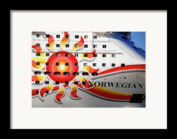 Heading South Framed Print featuring the photograph The Norwegian Sun Bow by Susanne Van Hulst