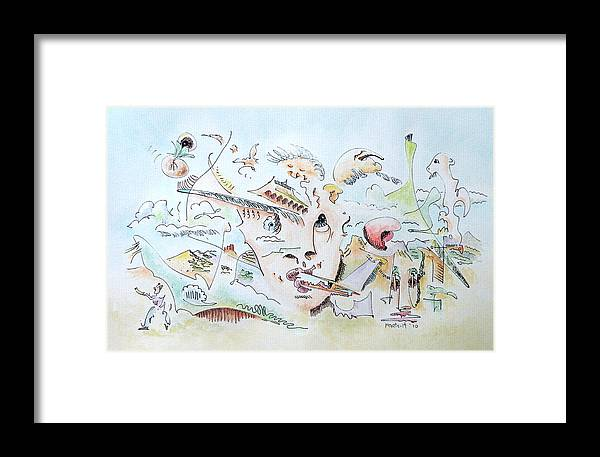 Watercolor Framed Print featuring the painting The Novelist by Dave Martsolf