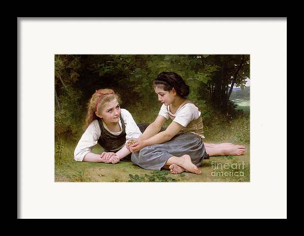 Nut Framed Print featuring the painting The Nut Gatherers by William-Adolphe Bouguereau