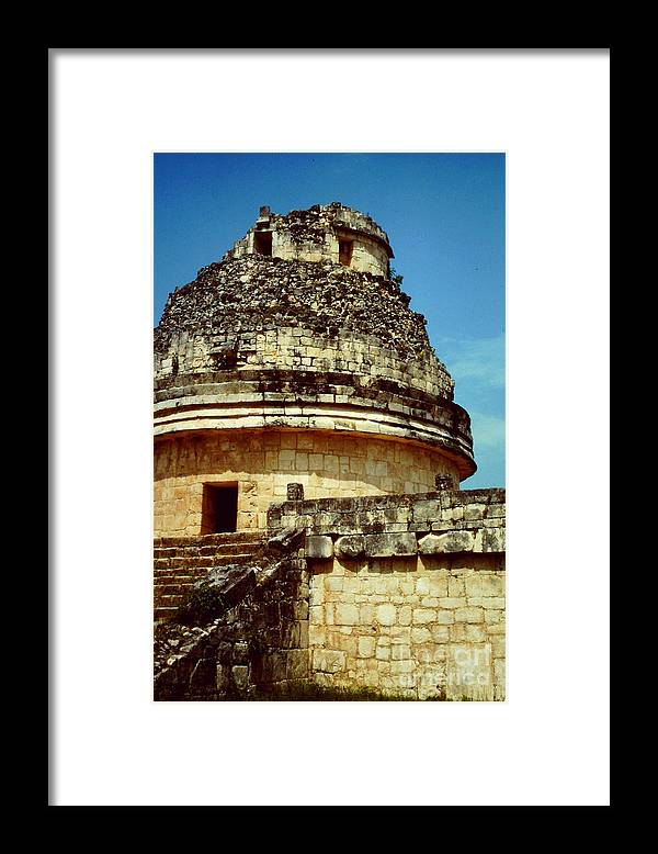 El Caracol Framed Print featuring the photograph The Observatory El Caracol by Roy Anthony Kaelin