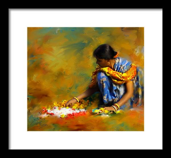 Spiritual Framed Print featuring the digital art The Offerings by Stephen Lucas