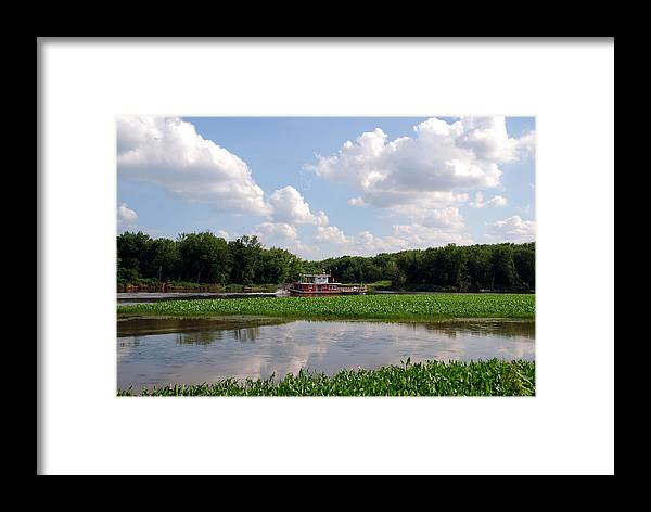 Mississippi River Framed Print featuring the photograph The Old Boat On The Mississippi River by Susanne Van Hulst
