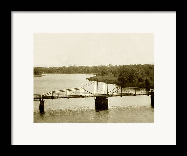 River Framed Print featuring the painting The Old Bridge by Debbie May