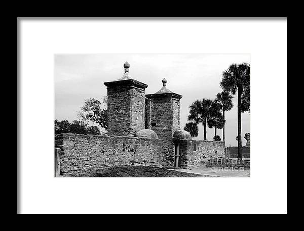 Saint Augustine Florida Framed Print featuring the photograph The Old City Gates by David Lee Thompson