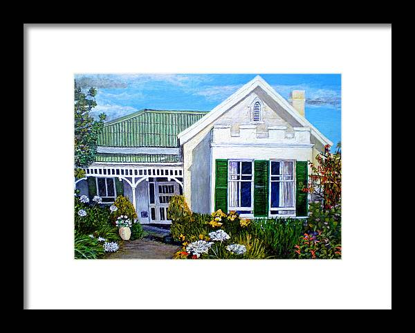 House Framed Print featuring the painting The Old Farm House by Michael Durst