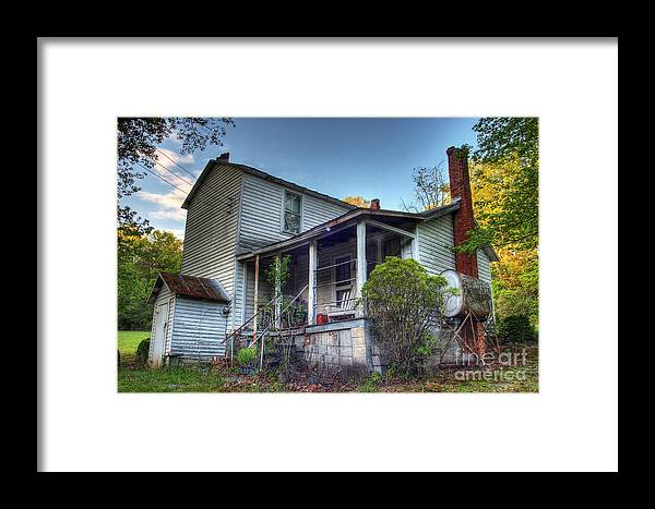 Landscape Framed Print featuring the photograph The Old Home Place by Pete Hellmann