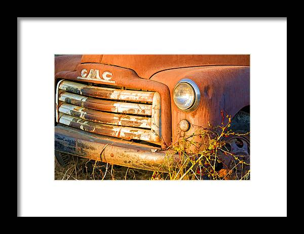 Truck Framed Print featuring the digital art The Old Jimmy by Patricia Stalter