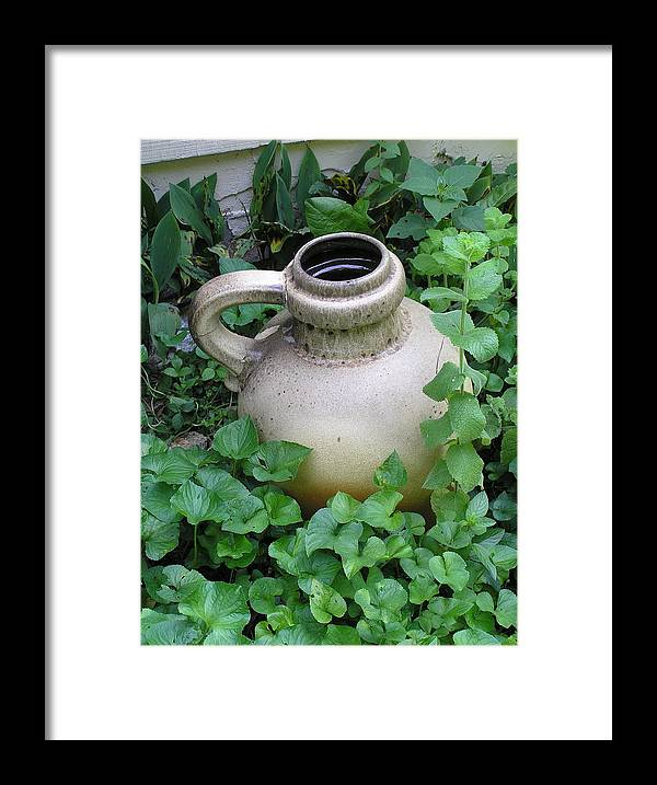 Jug Framed Print featuring the photograph The Old Jug by Jeanette Oberholtzer
