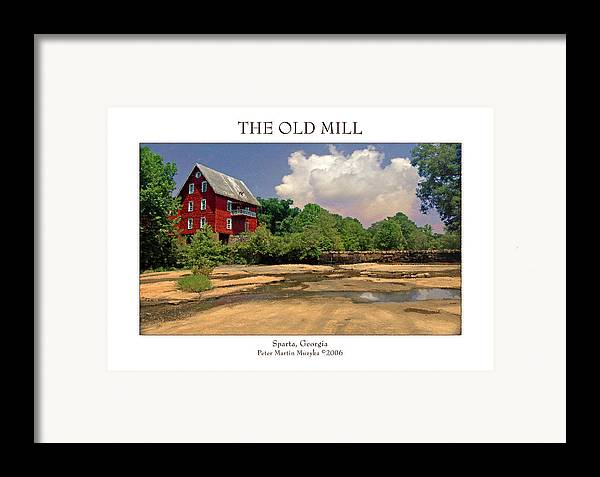Landscape Framed Print featuring the photograph The Old Mill by Peter Muzyka