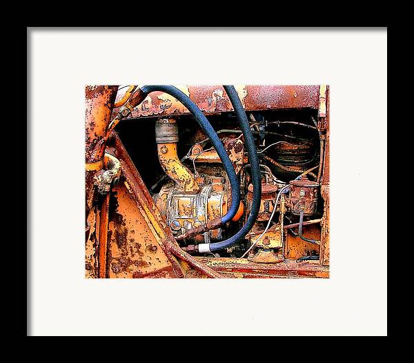 Photography Framed Print featuring the photograph The Old Tractor by Linda Carroll