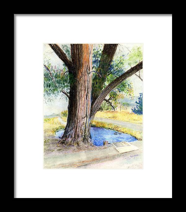 Tree Framed Print featuring the pastel The Old Tree by Arline Wagner