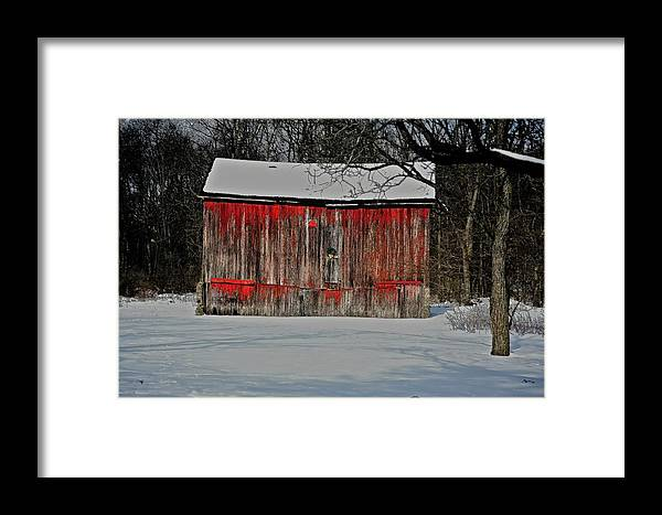 Old Framed Print featuring the photograph The Old Weathered Barn by Robert Pearson