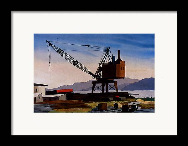 Crane Framed Print featuring the painting The Oldcrane by Faye Ziegler