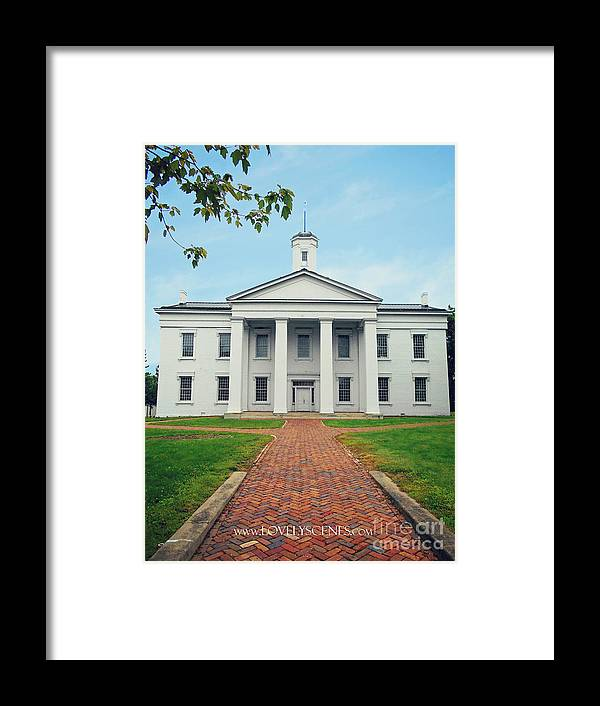 Vandalia State Capital Building Framed Print featuring the photograph The Oldest by Lovely Scenes Photography
