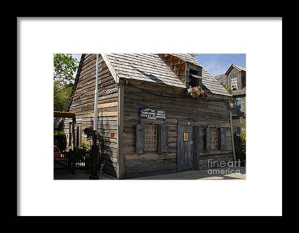 Saint Augustine Florida Framed Print featuring the photograph The Oldest School House by David Lee Thompson
