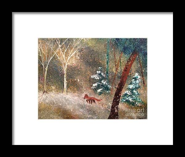 Snow Framed Print featuring the painting The Onion Snow by Denise Tomasura