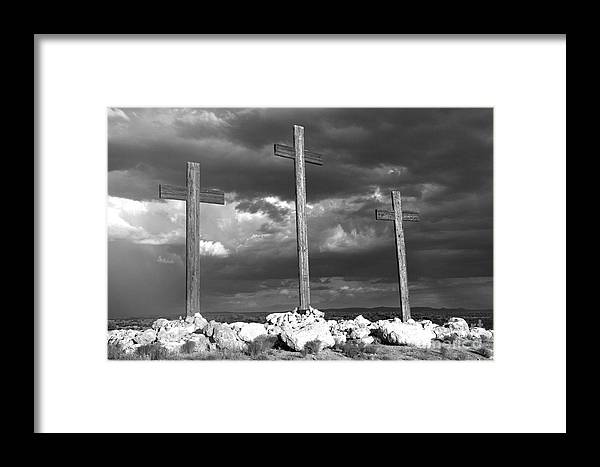 Crosses Framed Print featuring the photograph The Only Way by Kenneth Hess