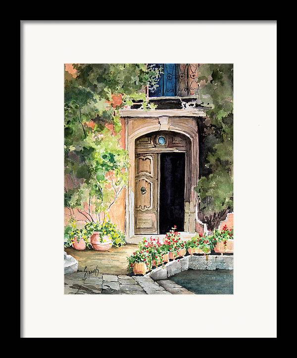 Door Framed Print featuring the painting The Open Door by Sam Sidders