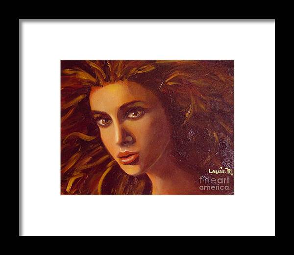 Portrait Framed Print featuring the painting The Oracle by Laurie Morgan