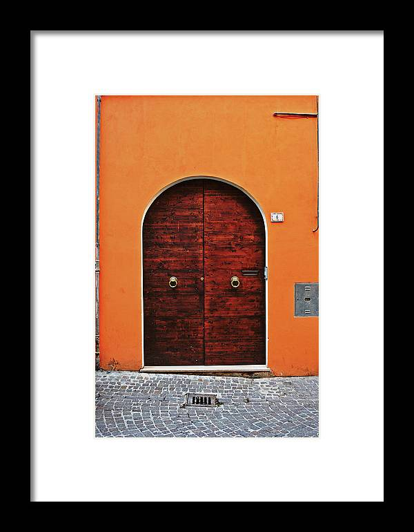 The Framed Print featuring the photograph The Orange House by HazelPhoto
