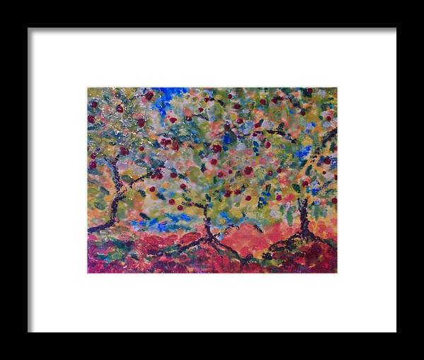 Landscape Framed Print featuring the painting The Orchard by Karla Phlypo-Price