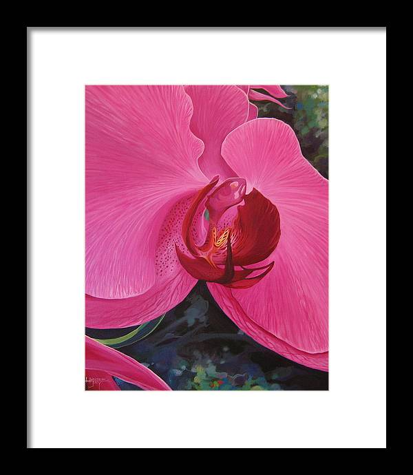 Orchid Framed Print featuring the painting The Orchid In San Juan by Hunter Jay