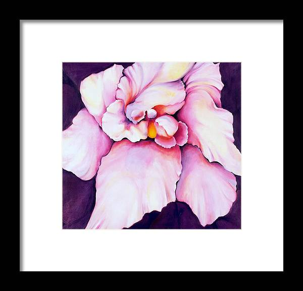 Orcdhid Bloom Artwork Framed Print featuring the painting The Orchid by Jordana Sands