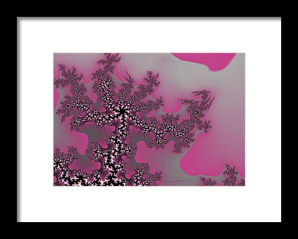 Fractals Tree Nature Oriental Art Framed Print featuring the digital art The oriental tree by Veronica Jackson