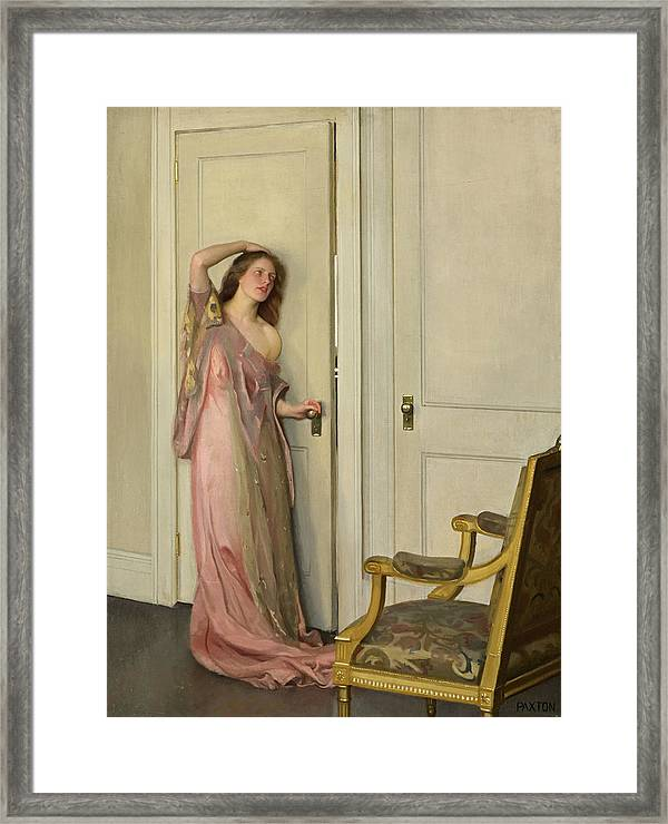 William Mcgregor Paxton Framed Print featuring the painting The Other Door by William McGregor Paxton & The Other Door Framed Print by William McGregor Paxton