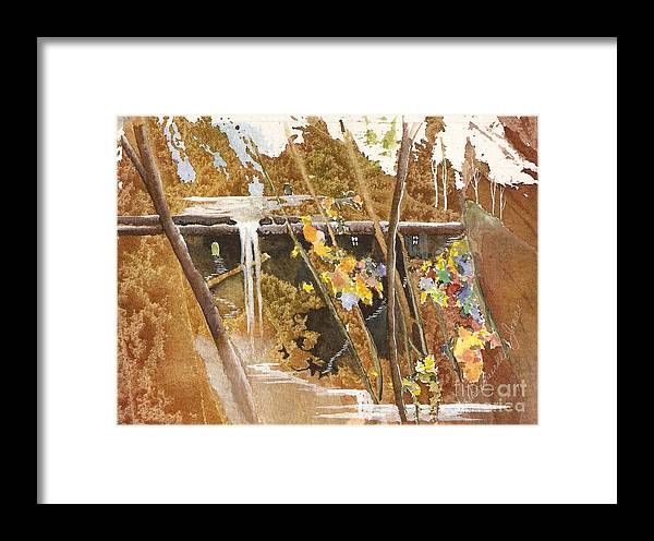 Fantasy Framed Print featuring the painting The Other Place by Jackie Mueller-Jones
