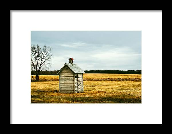 Outhouse Framed Print featuring the photograph The Outhouse by Todd Klassy