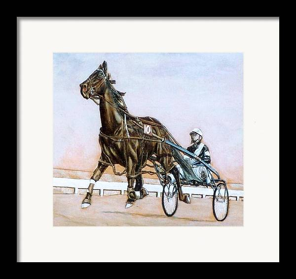 Horses Framed Print featuring the painting The Pacer by Lilly King