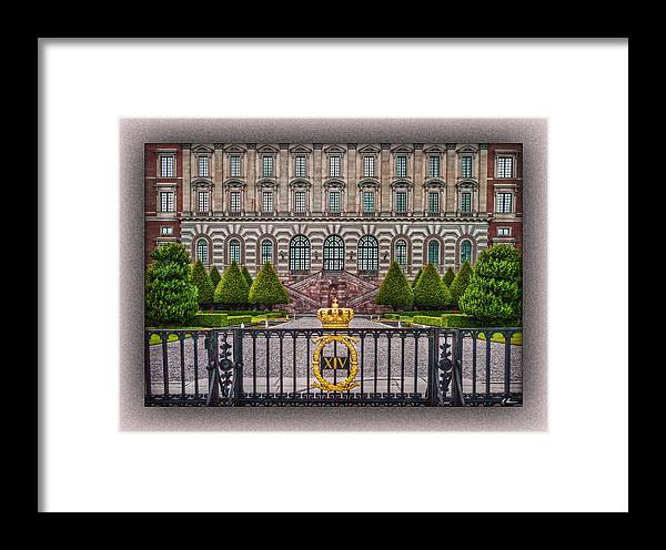 Sweden Framed Print featuring the photograph The Palace Courtyard by Hanny Heim