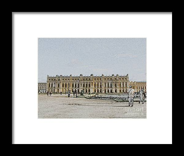Palace Framed Print featuring the photograph The Palace of Versailles by Amanda Barcon
