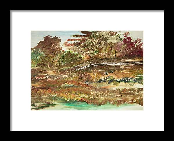 Landscape Framed Print featuring the painting The Park by Edward Wolverton