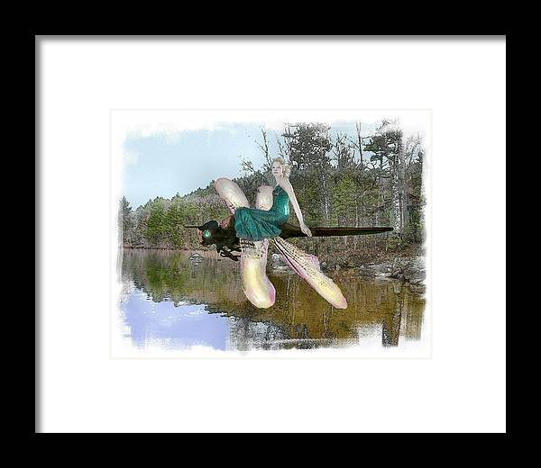 Young Woman Framed Print featuring the photograph The Parting by Rose Guay