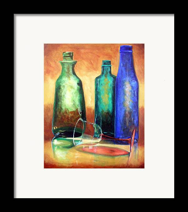 Oil Framed Print featuring the painting The Party's Over by Linda Hiller