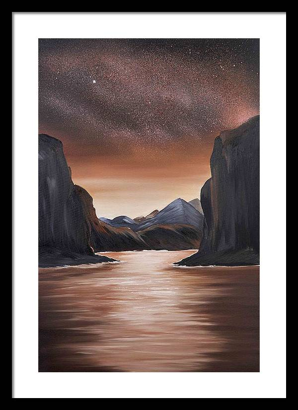 Landscape Framed Print featuring the painting The Passage Beyond The Boundaries by Ara Elena