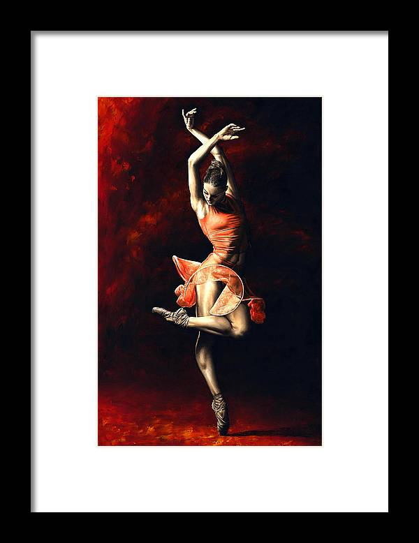 Dancer Framed Print featuring the painting The Passion of Dance by Richard Young