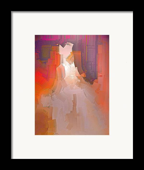 Abstract Framed Print featuring the digital art The Past Warns The Future by Michael Durst