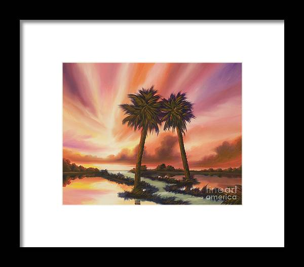 Skyscape Framed Print featuring the painting The Path Ahead by James Christopher Hill