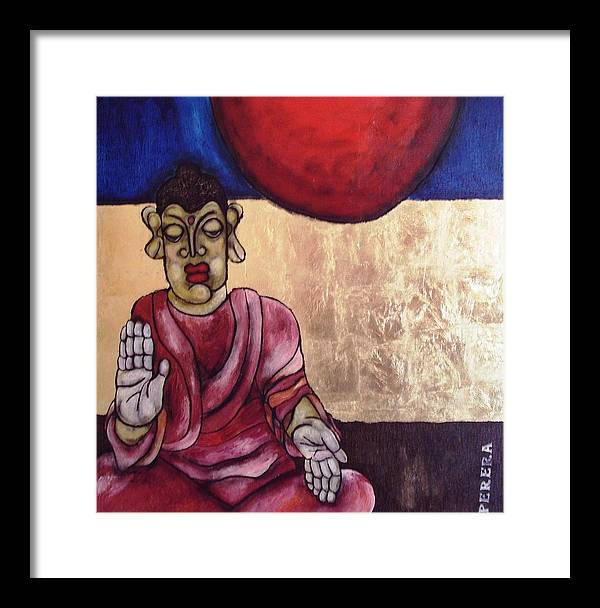 Contemporary Framed Print featuring the painting The Patience by Maarten Perera