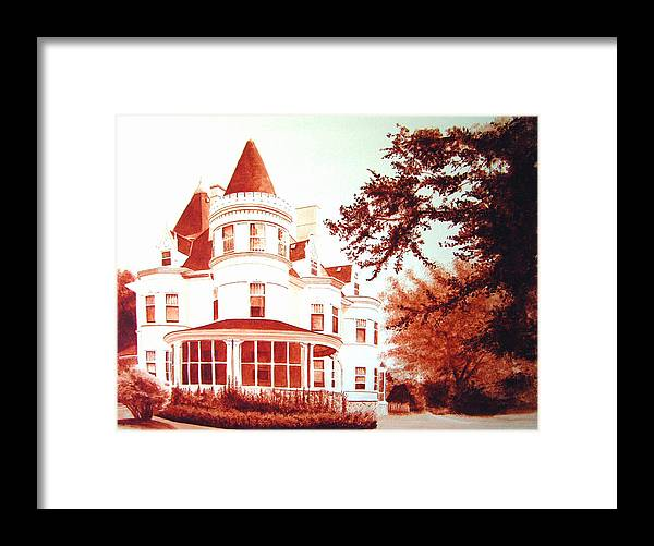 House Framed Print featuring the painting The Patton House by Scott Robinson