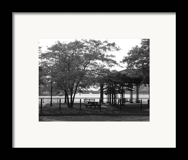 The Pavillion Framed Print featuring the photograph The Pavilion by Nancy Ferrier