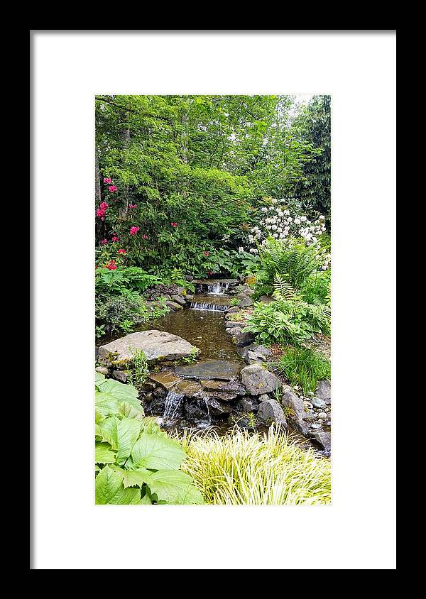 Botanical Floral Nature Framed Print featuring the photograph The peaceful place 3 by Valerie Josi